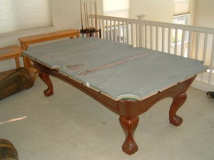Proper pool table moving process in Wilmington North Carolina